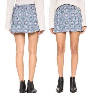 Free People Lovers Lane Printed Mini Skirt Size 8